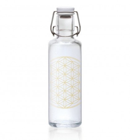 "Drikkeflaske i glass, 0.6 liter ""Flower of Life"""