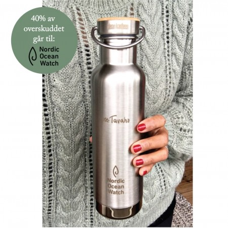 Klean Kanteen INSULATED REFLECT drikkeflaske 592 ml, børstet stål (#Tavaha, NOW og Be:Eco trykk)