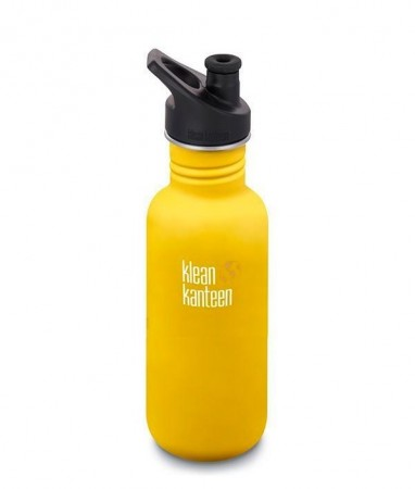 Klean Kanteen Classic m/ sportskork 532 ml, LEMON CURRY