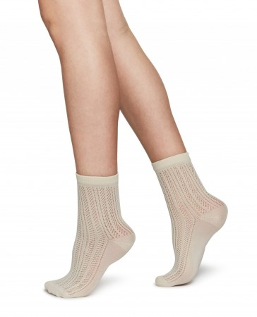 Swedish Stockings sokker, KLARA KNIT, Ivory