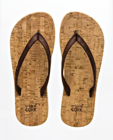 Original Cork Flip-Flops, OLD OAK (brun), vegansk str.  36-45