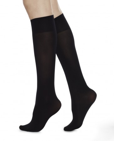 Swedish Stockings - INGRID Knee High Black 60 denier