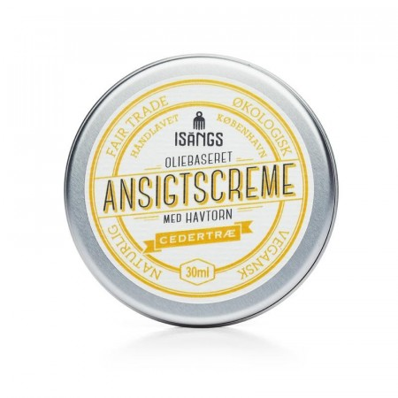 Isangs ANSIKTSKREM m/ duft av SEDERTRE, 30 ml