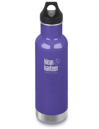 Klean Kanteen Classic Insulated drikkeflaske 592 ml, BLOOMING IRIS (LILLA)