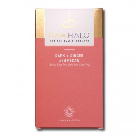 Raw Halo, Dark Ginger and Pecan 65%, sjokolade