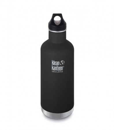 Klean Kanteen Insulated Classic drikkeflaske 946 ml, SHALE BLACK