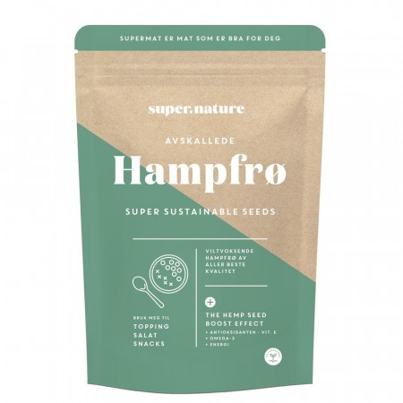 Supernature hampfrø, 150 g