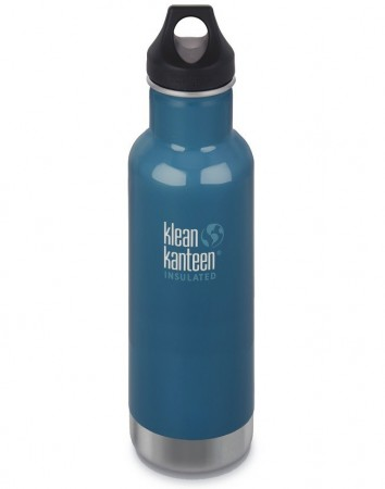 Klean Kanteen Classic Insulated drikkeflaske 592 ml, WINTER LAKE (DYP BLÅ)