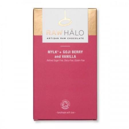 Raw Halo Mylk + Goji Berry and Vanilla sjokolade (35 gram)