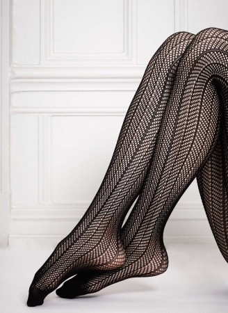 Swedish Stockings strømpebukser - ASTRID Fishnet micro-net