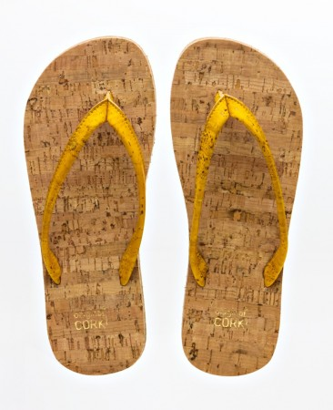 Original Cork Flip-Flops, BUMBLE BEE (gul), vegansk str. 36-40