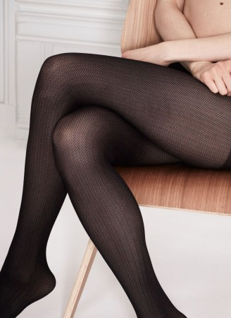 Swedish Stockings strømpebukser - NINA FISHBONE 40 denier
