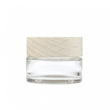 Glasskrukke m/ trelokk 30 ml