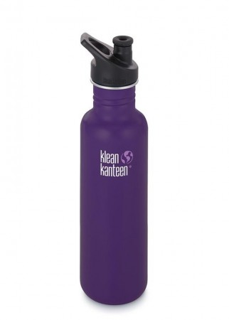 Klean Kanteen CLASSIC m/ sportskork 800 ml, BERRY SYRUP (dyp lilla)