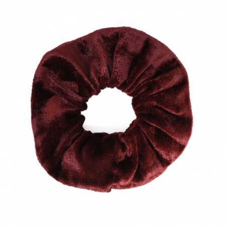 Scrunchie, Brown-Red Velour
